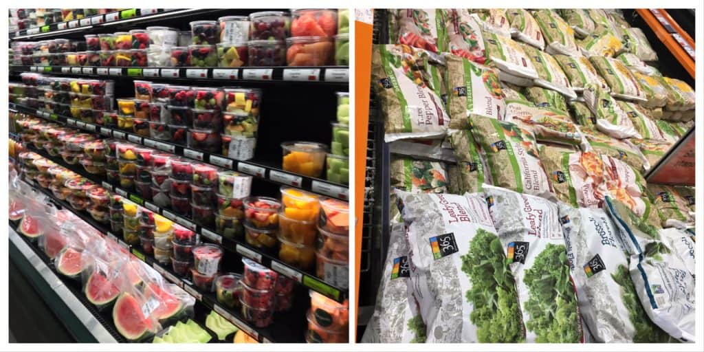 Not Ultra-Processed: Packaged Fresh Fruits and Frozen Vegetables