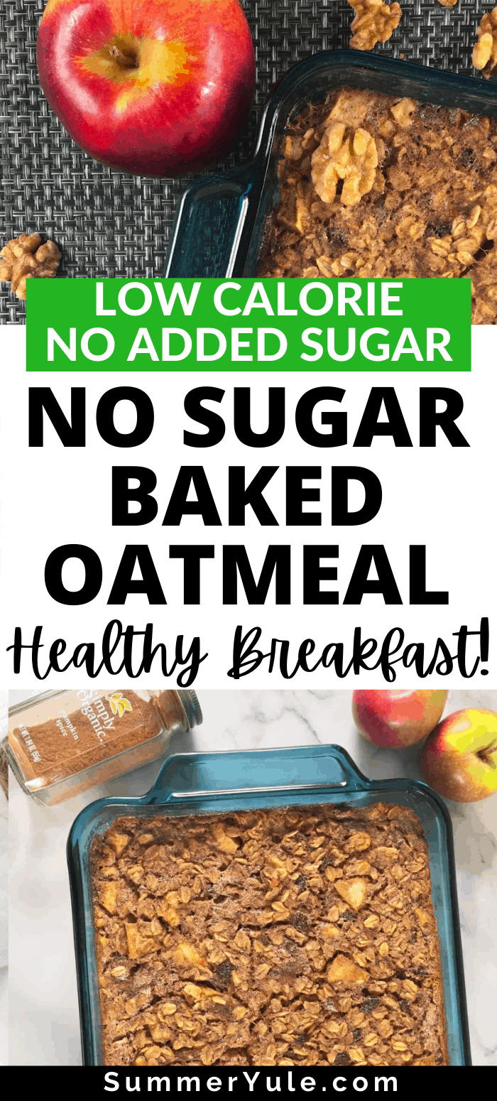 how to make no sugar baked oatmeal