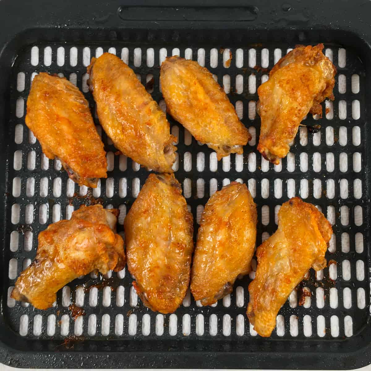 keto air fried chicken wings