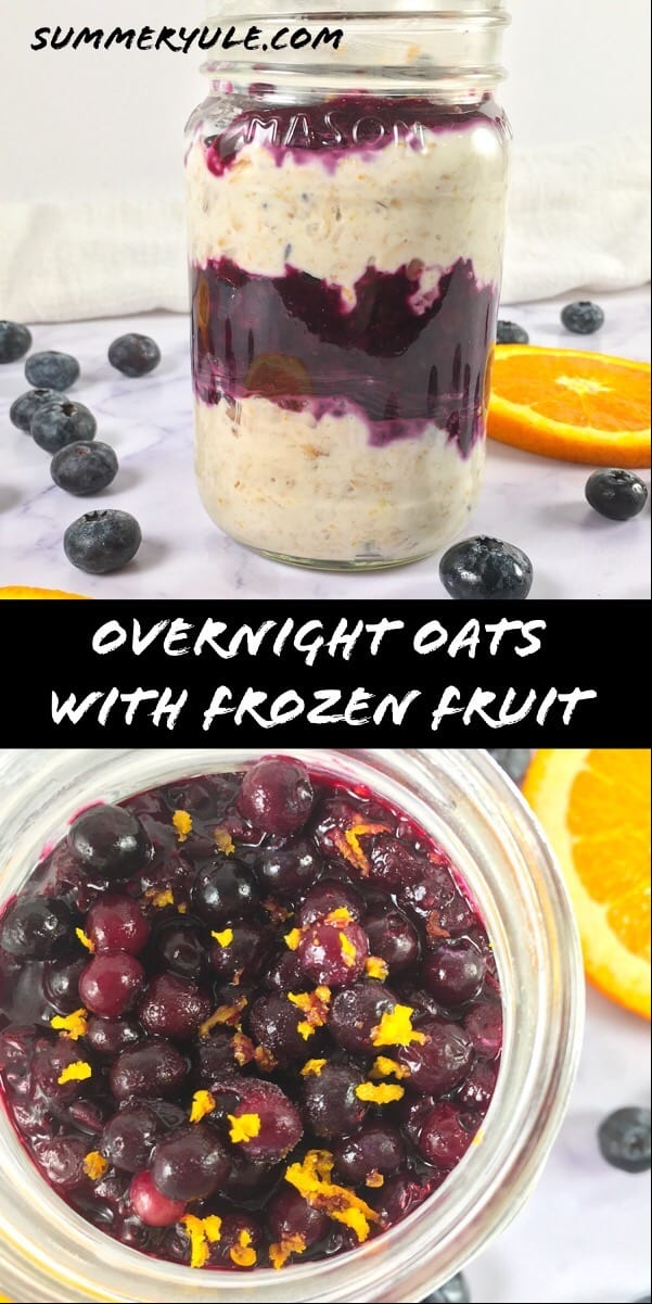 How to make overnight oats with frozen fruit
