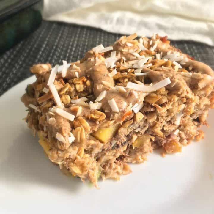 Hummingbird Cake Oatmeal Square