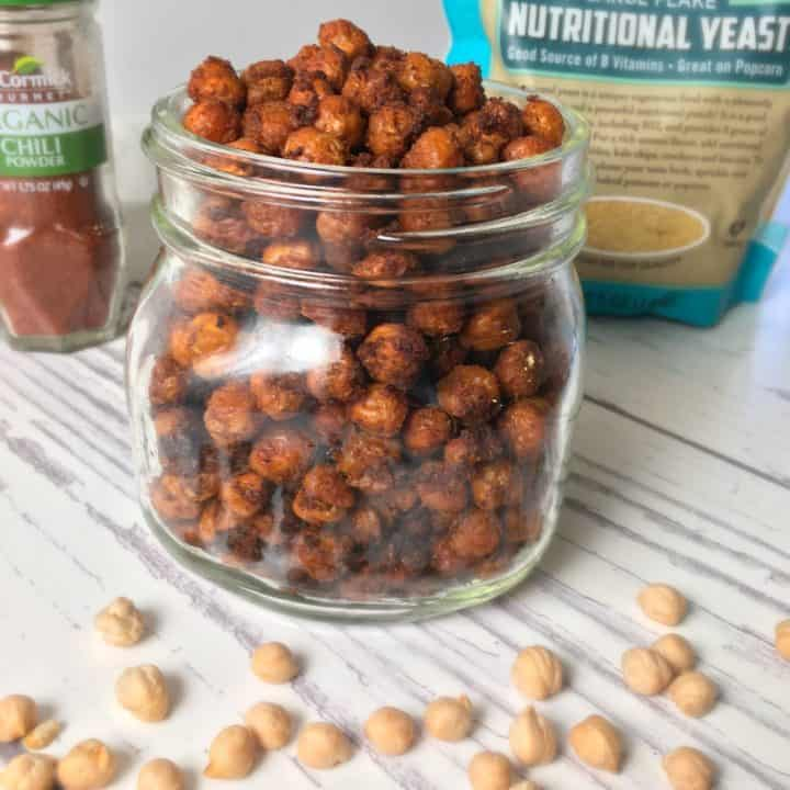 air fried chickpeas