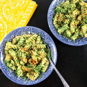 Carrot greens recipe pesto square image