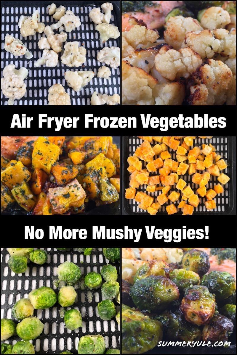 Air fryer broccoli Pinterest image for air fryer frozen vegetables post