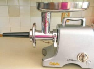 meat grinder with sausage attachment
