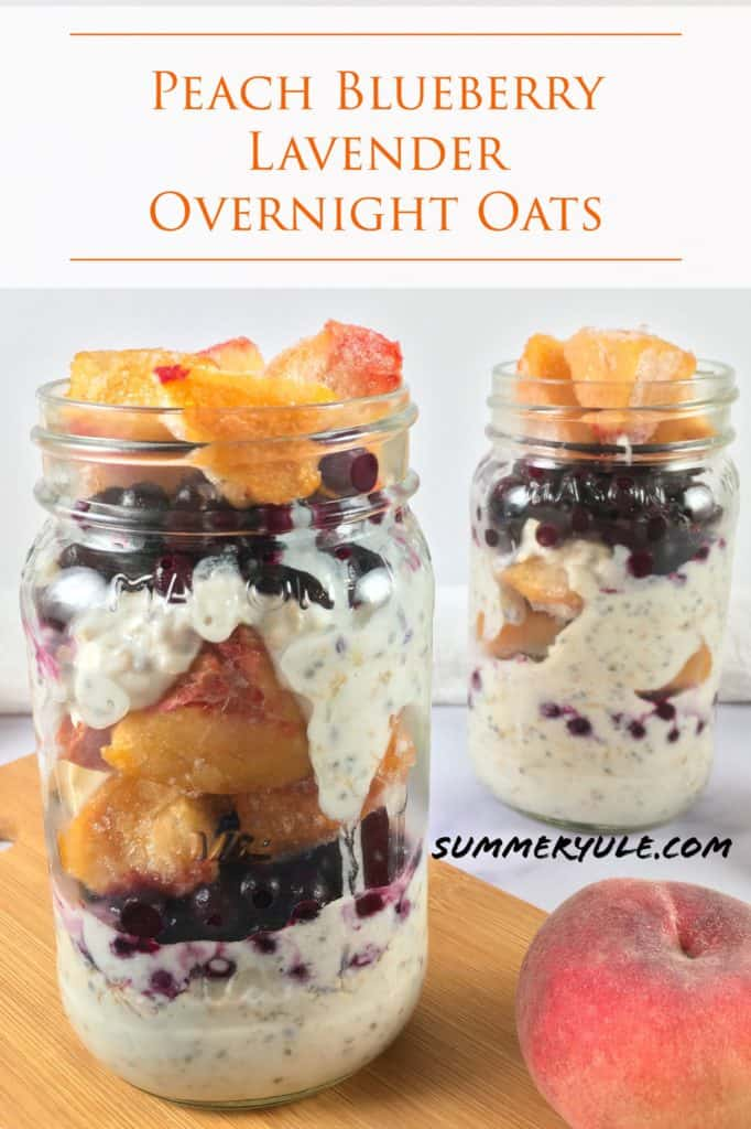 Edible lavender recipe overnight oats Pinterest image