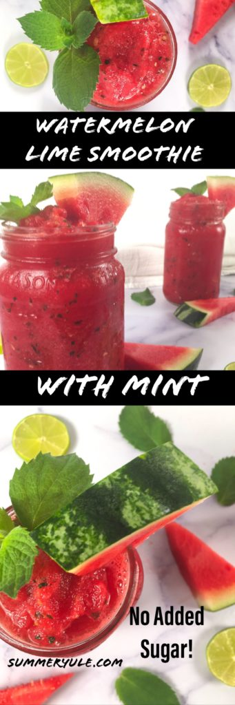 frozen watermelon lime smoothie with no added sugar