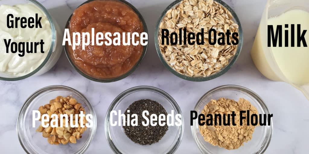 Applesauce overnight oats ingredients