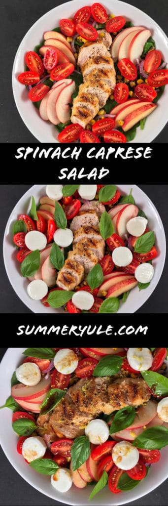 Caprese Salad with Chicken and Peaches