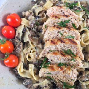 tagliatelle ai funghi pasta with mushrooms