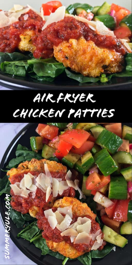 air fry chicken patties meal