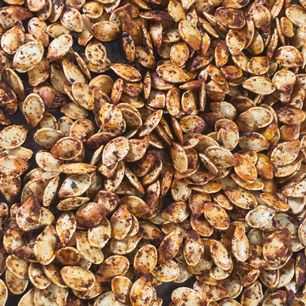 keto pumpkin seeds with sumac spice