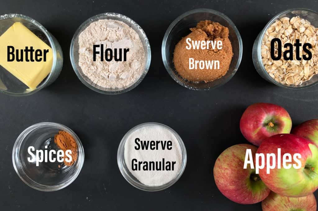 no sugar apple crisp ingredients