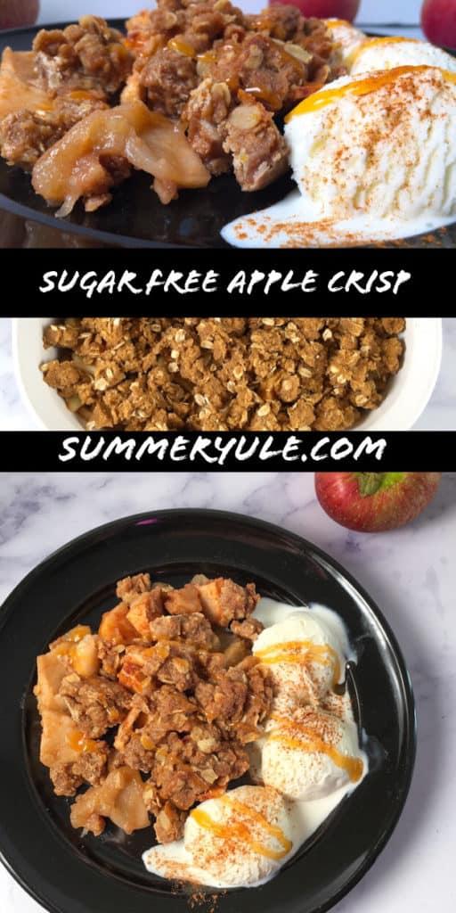 sugar free apple crisp with Swerve