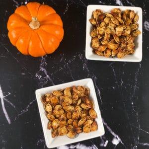 sumac roasted pumpkin seeds