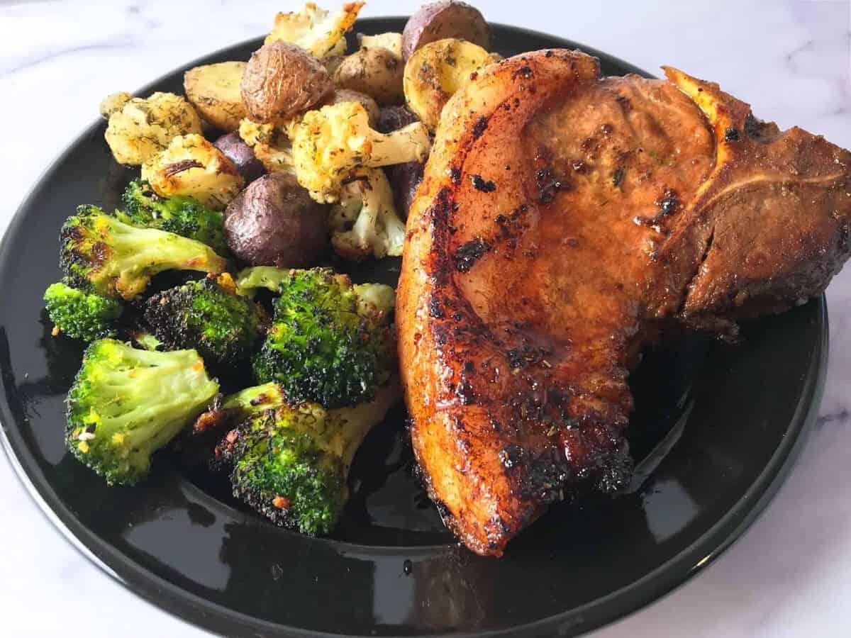 Air fryer broccoli meal