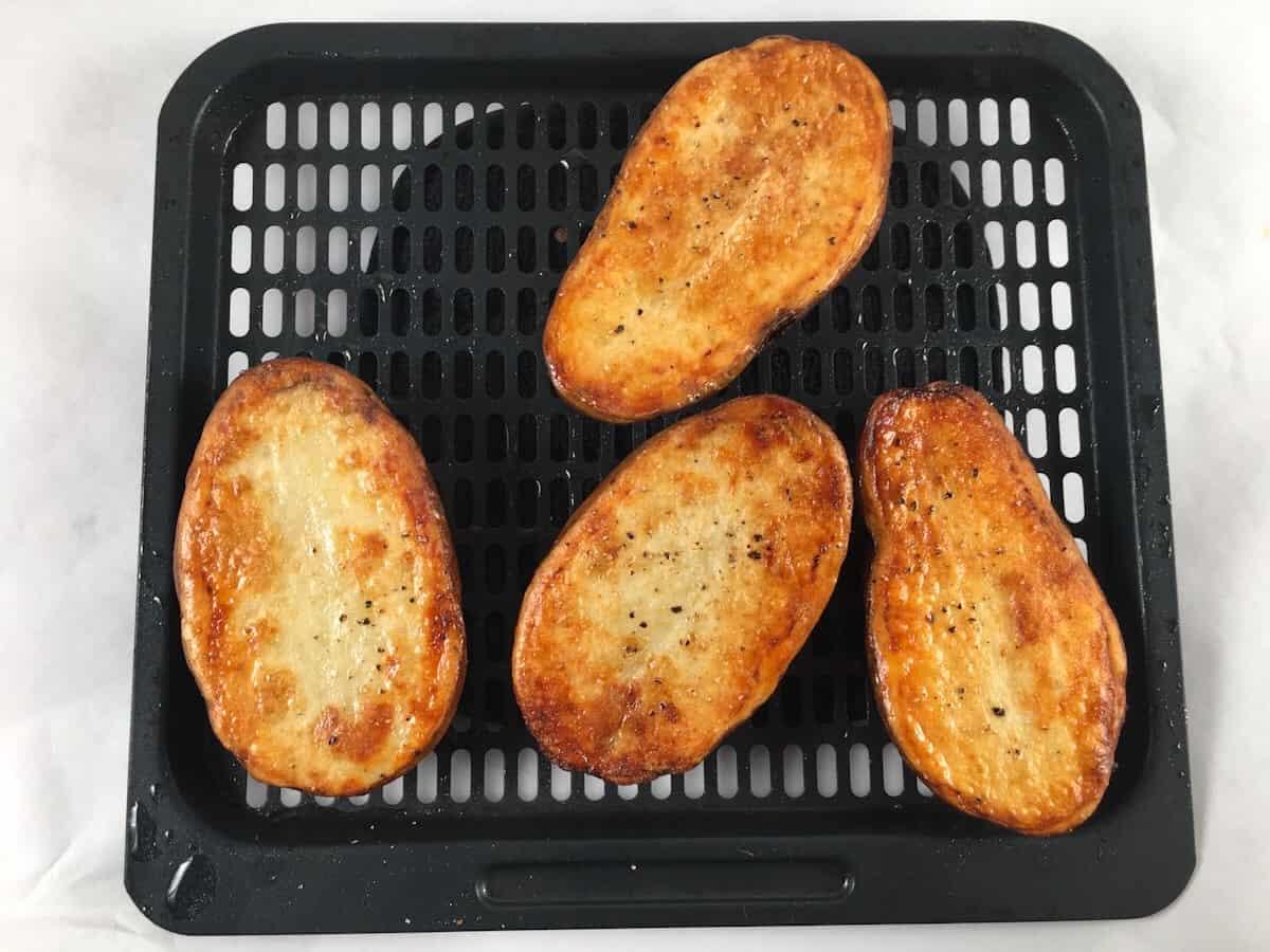 air fried potato halves
