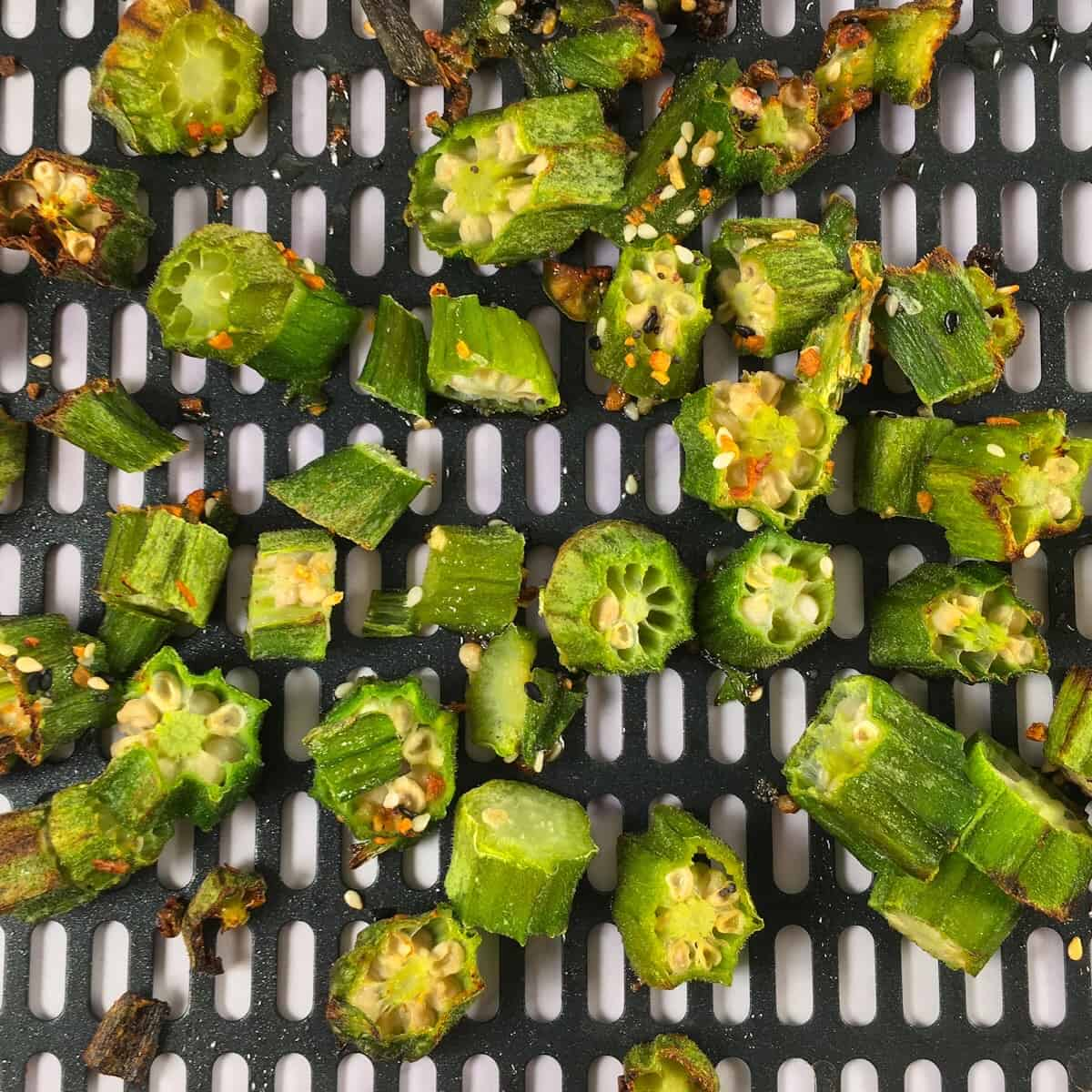 air fryer frozen okra