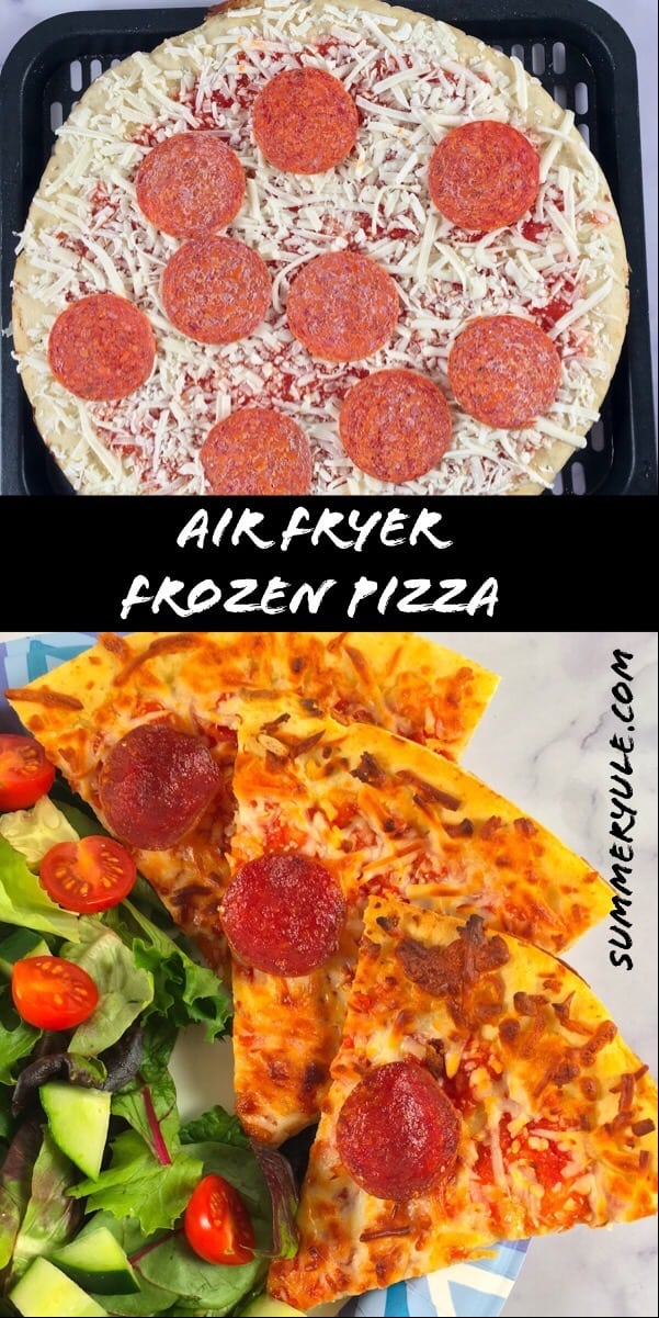 how to cook frozen pizza in an air fryer