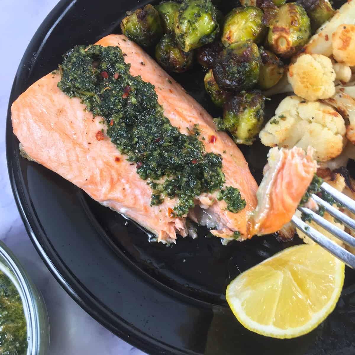low carb keto salmon meal