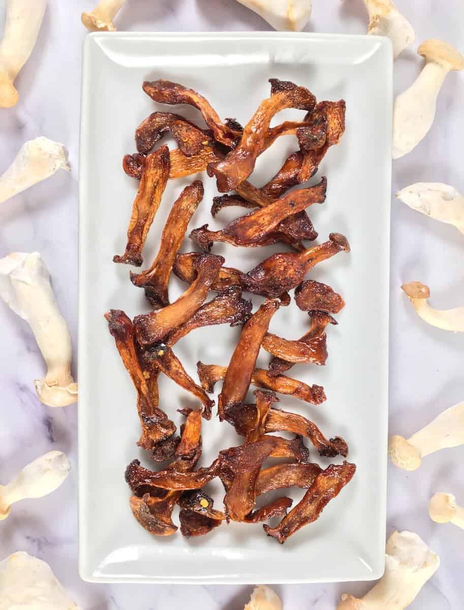 vegan oyster mushroom jerky