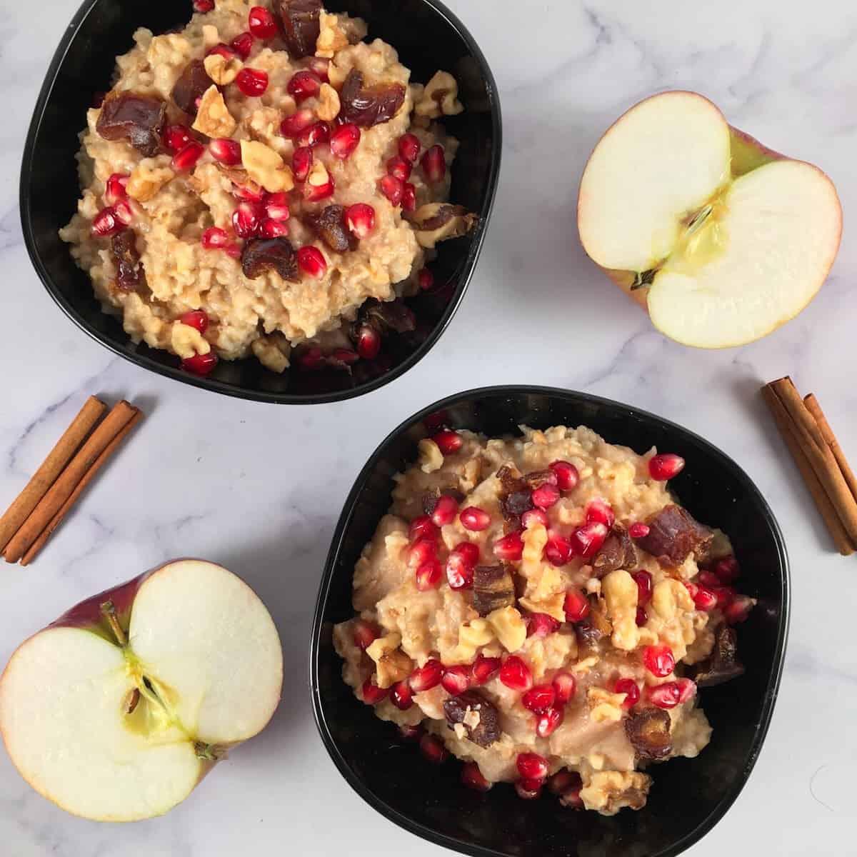 apple cinnamon steel cut oats