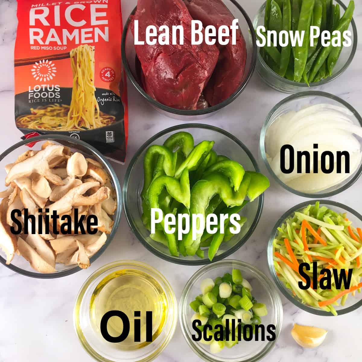 beef yakisoba ingredients