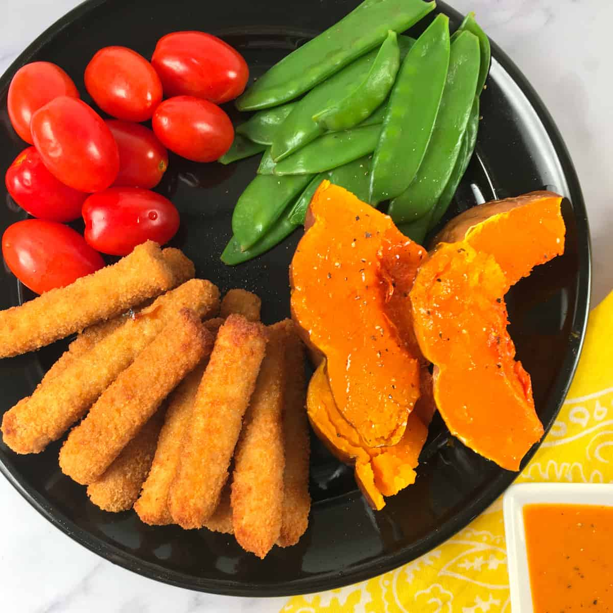 chicken tenders and veggies