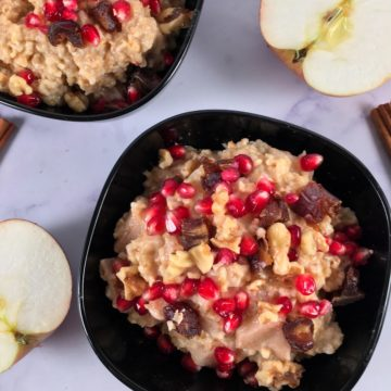 cinnamon apple steel cut oats