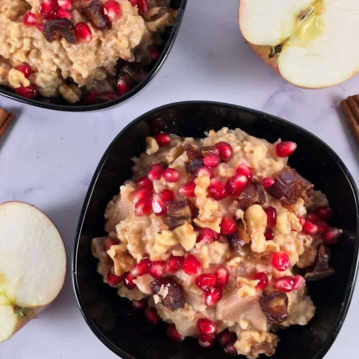 cinnamon apple steel cut oats