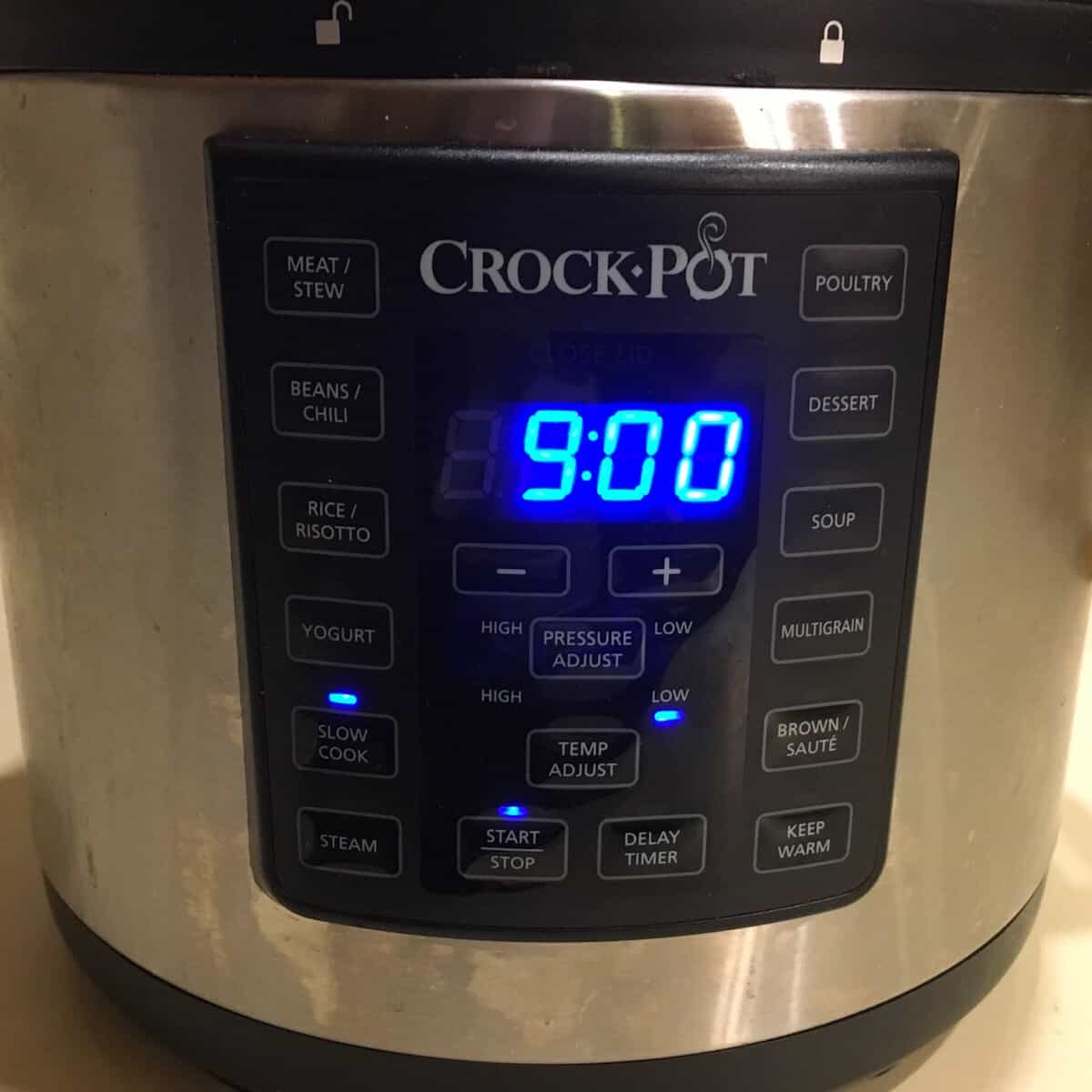 crock pot set for overnight