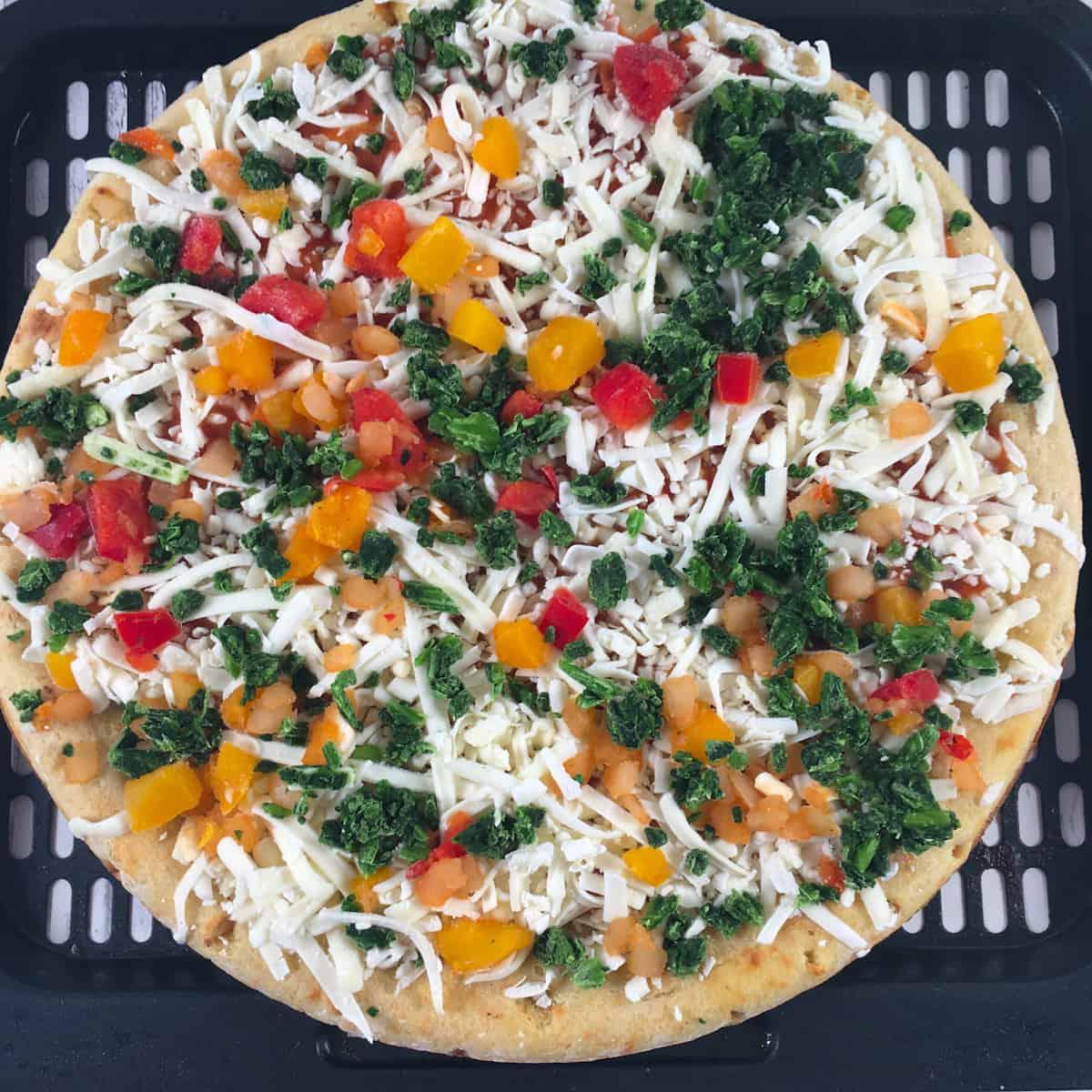 frozen chickpea pizza