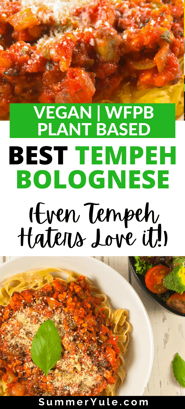how to make tempeh bolognese