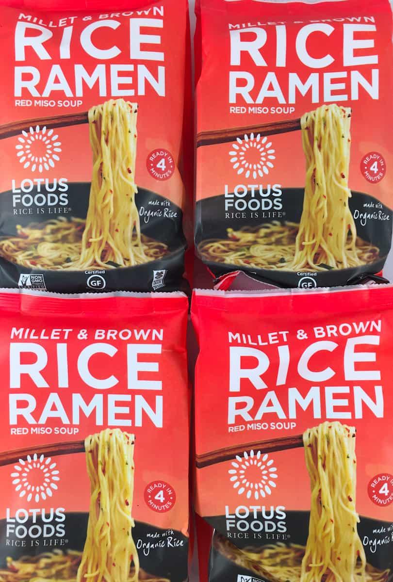 millet rice ramen noodles