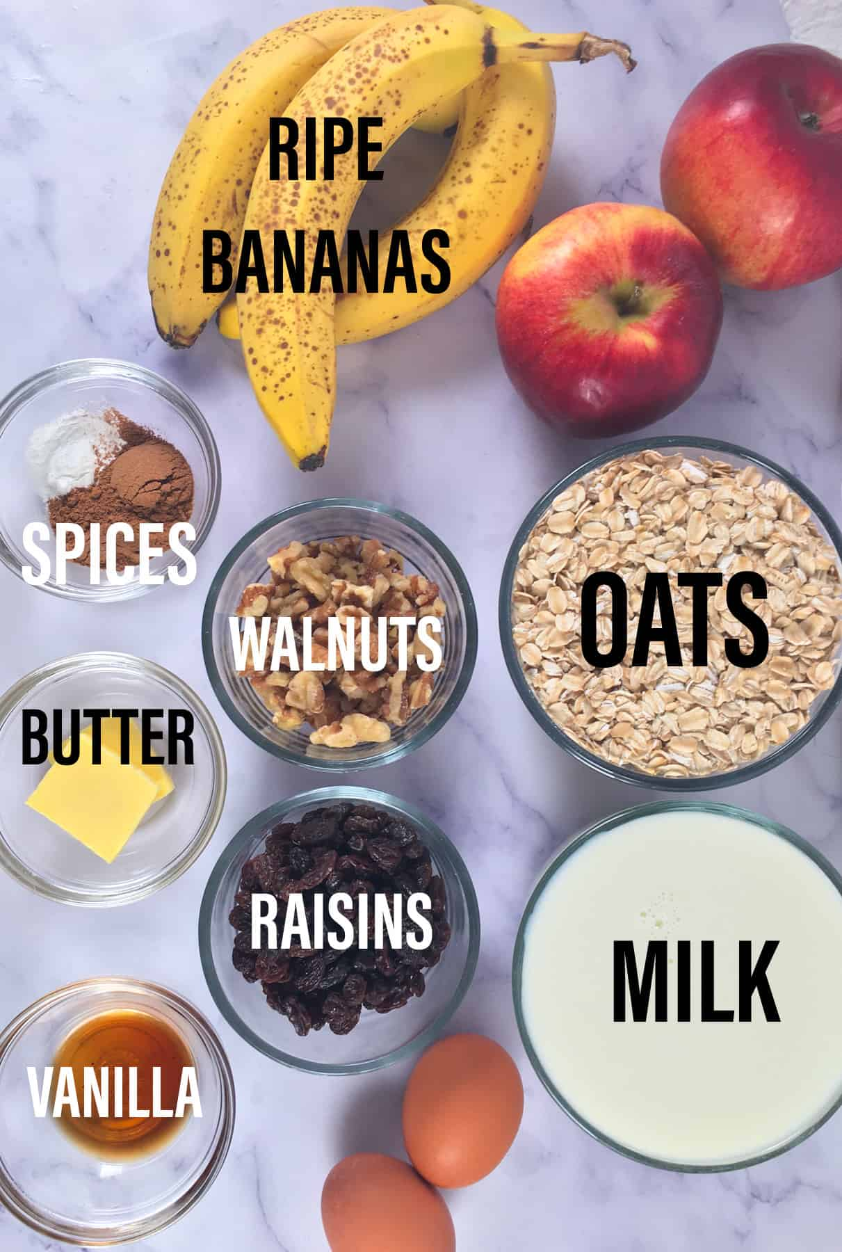 no sugar baked oatmeal ingredients