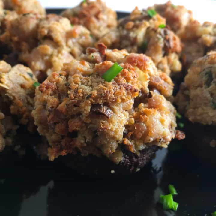 air fried stuffed mushrooms