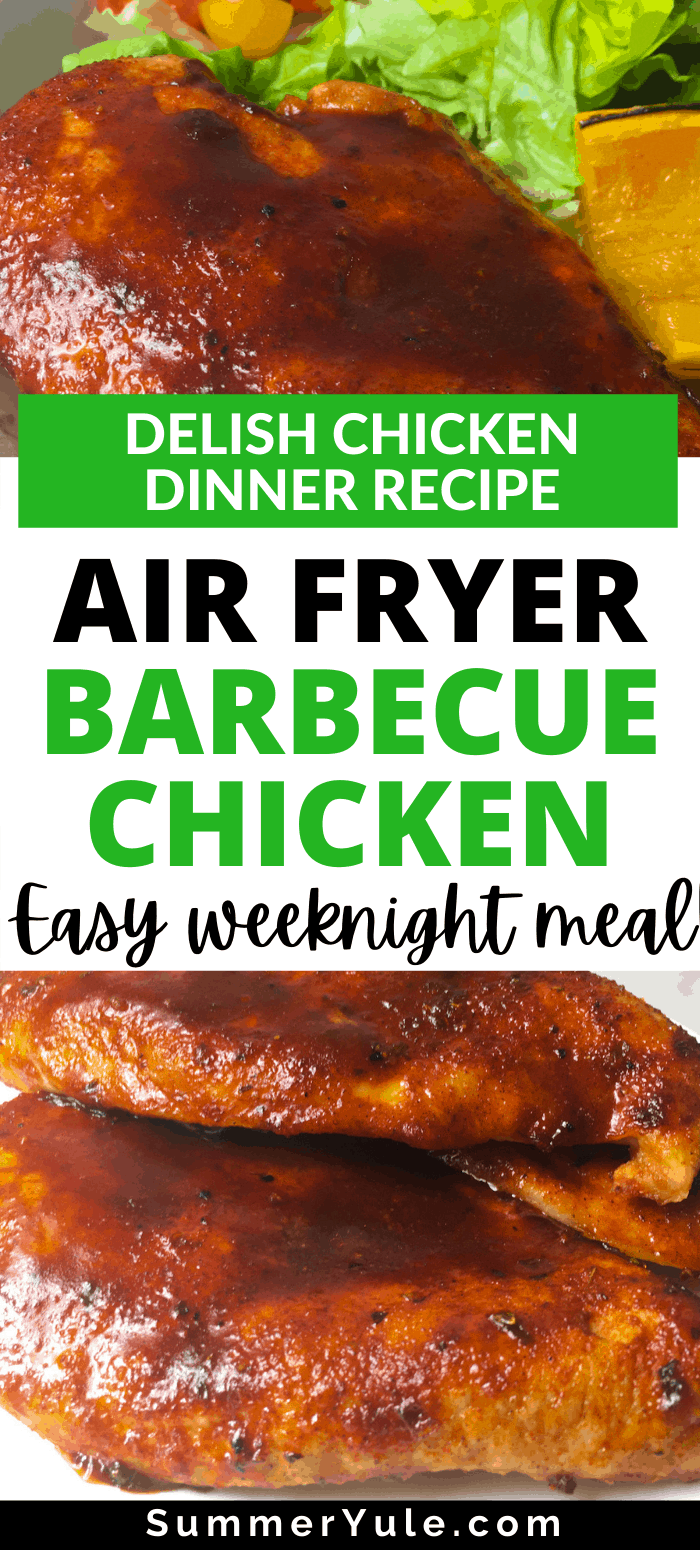 air fryer barbecued chicken