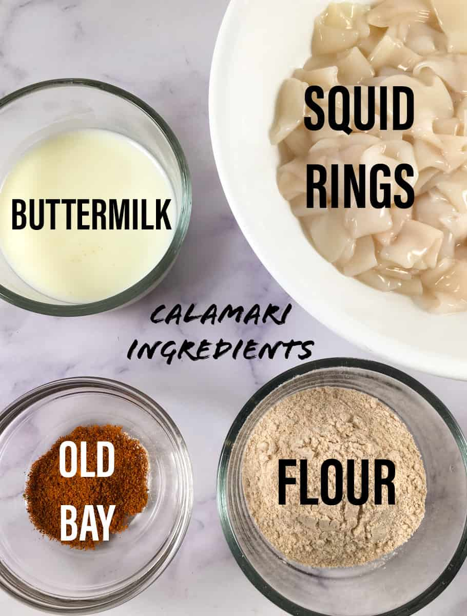 air fryer calamari ingredients