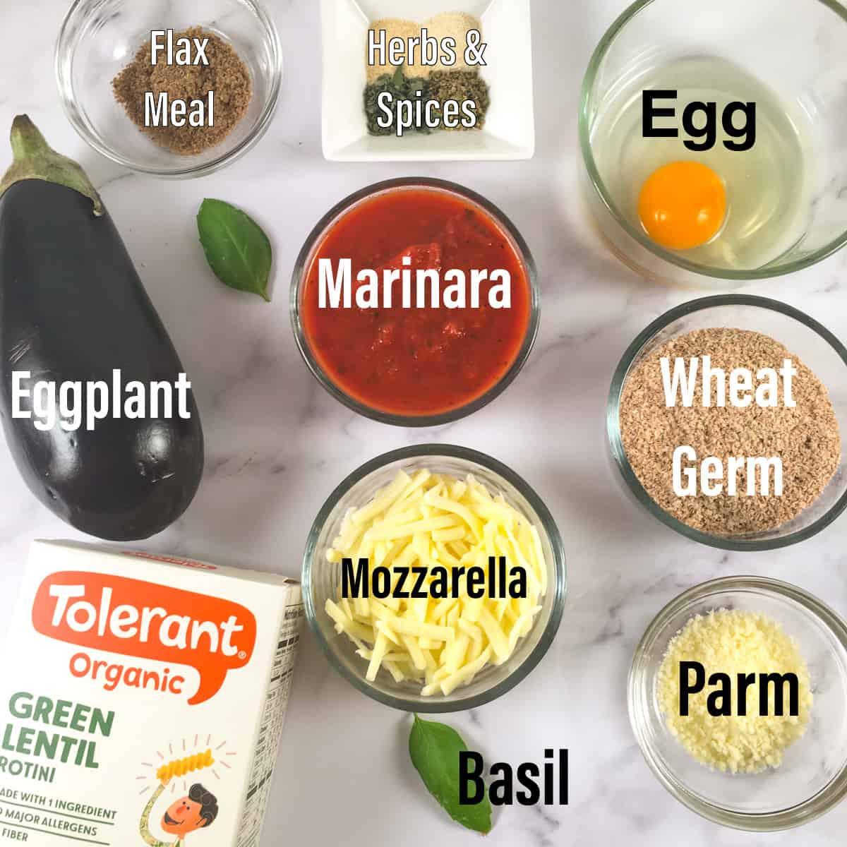 air fryer eggplant parm ingredients