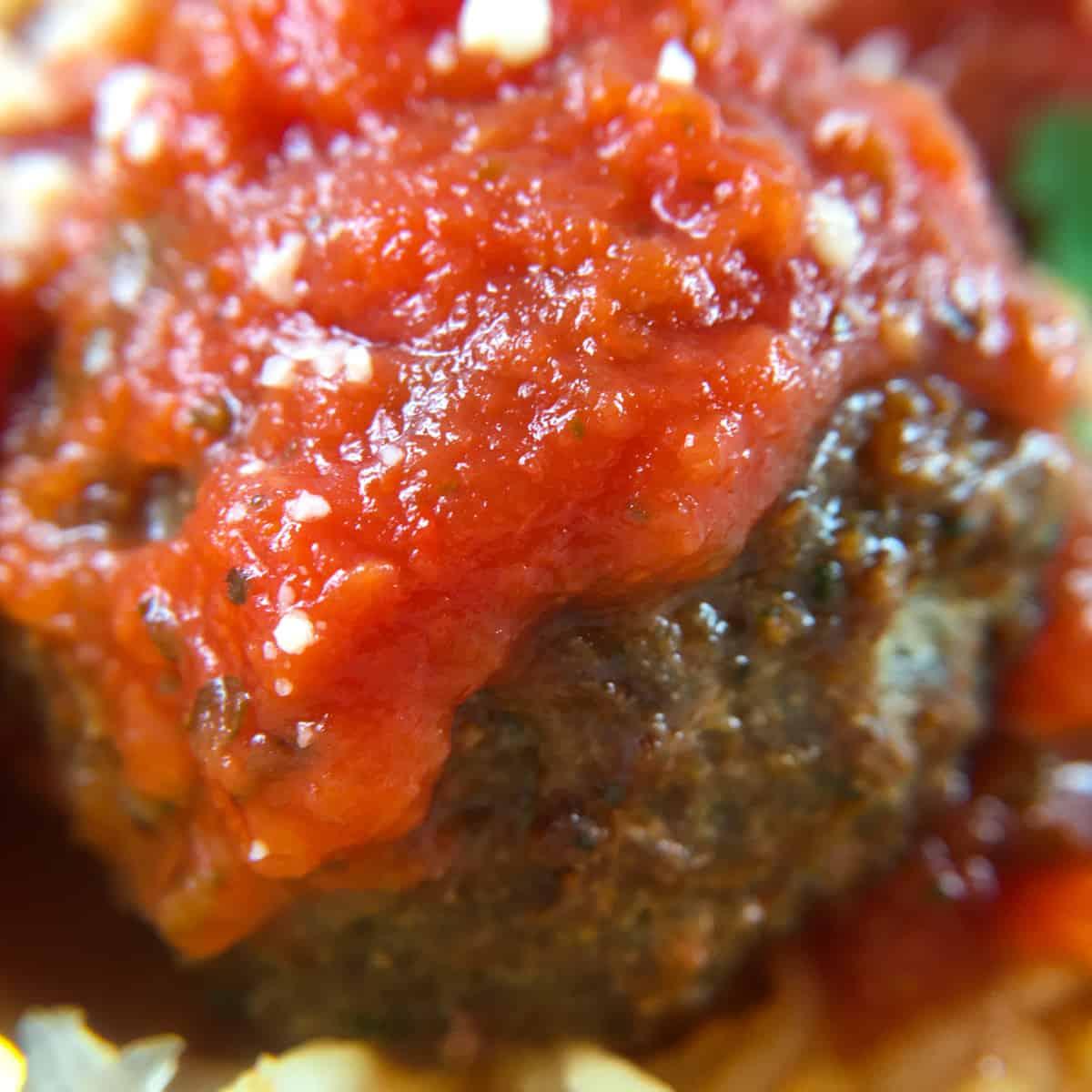 air fryer meatballs with marinara