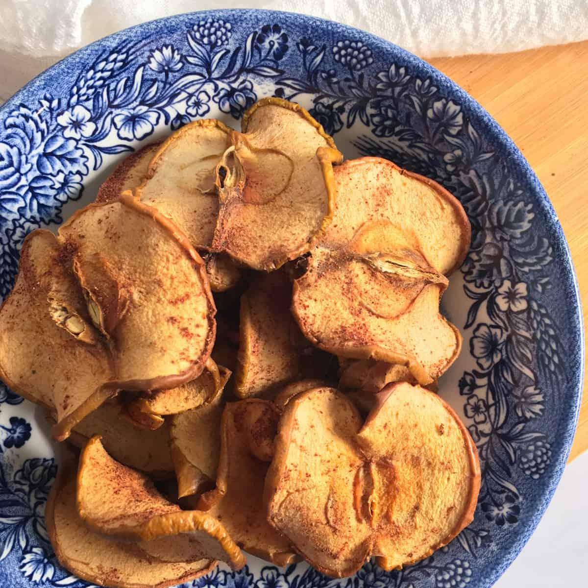 dehydrated cinnamon apple slices