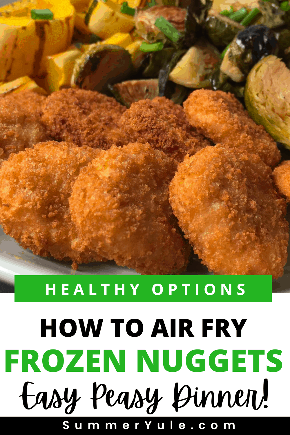 how to air fry frozen chicken nuggets
