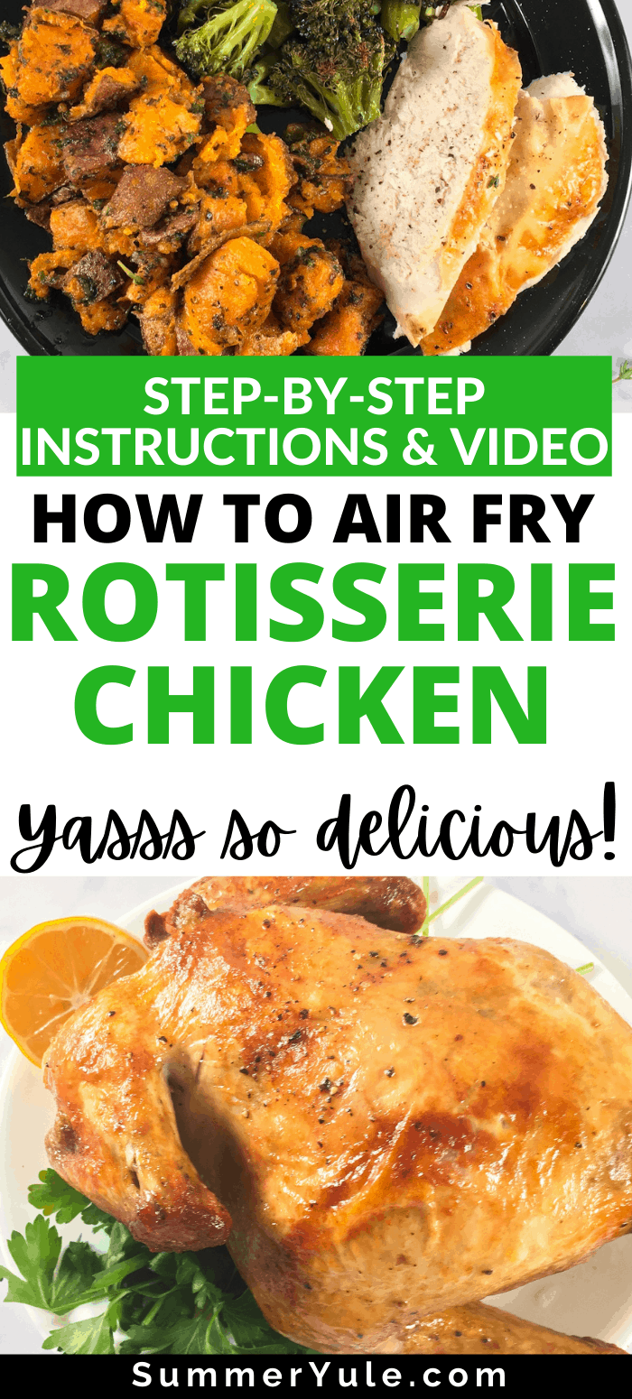 how to air fry rotisserie chicken