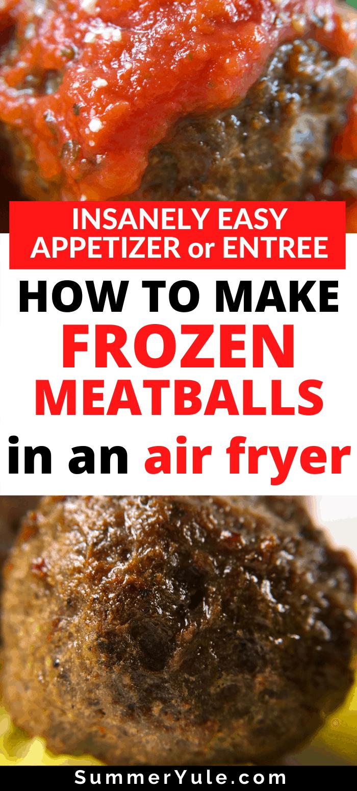 how to make air fryer frozen meatballs