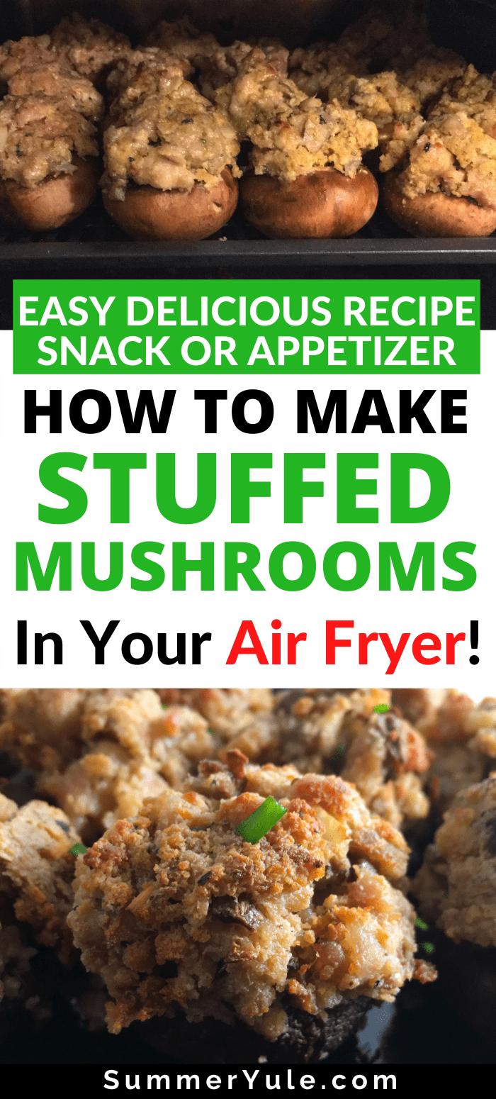 how to make air fryer stuffed mushrooms