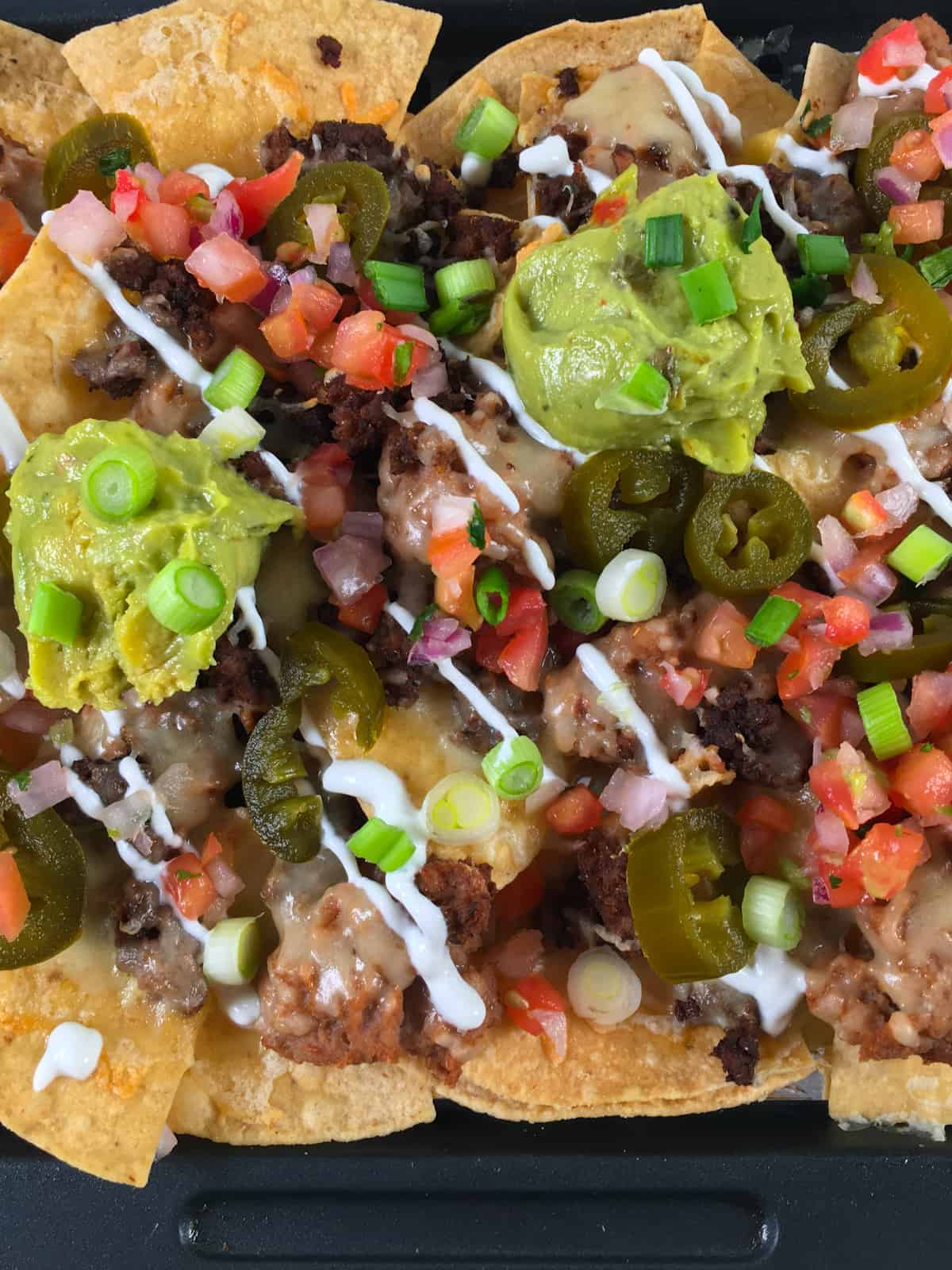 nachos made in an air fryer