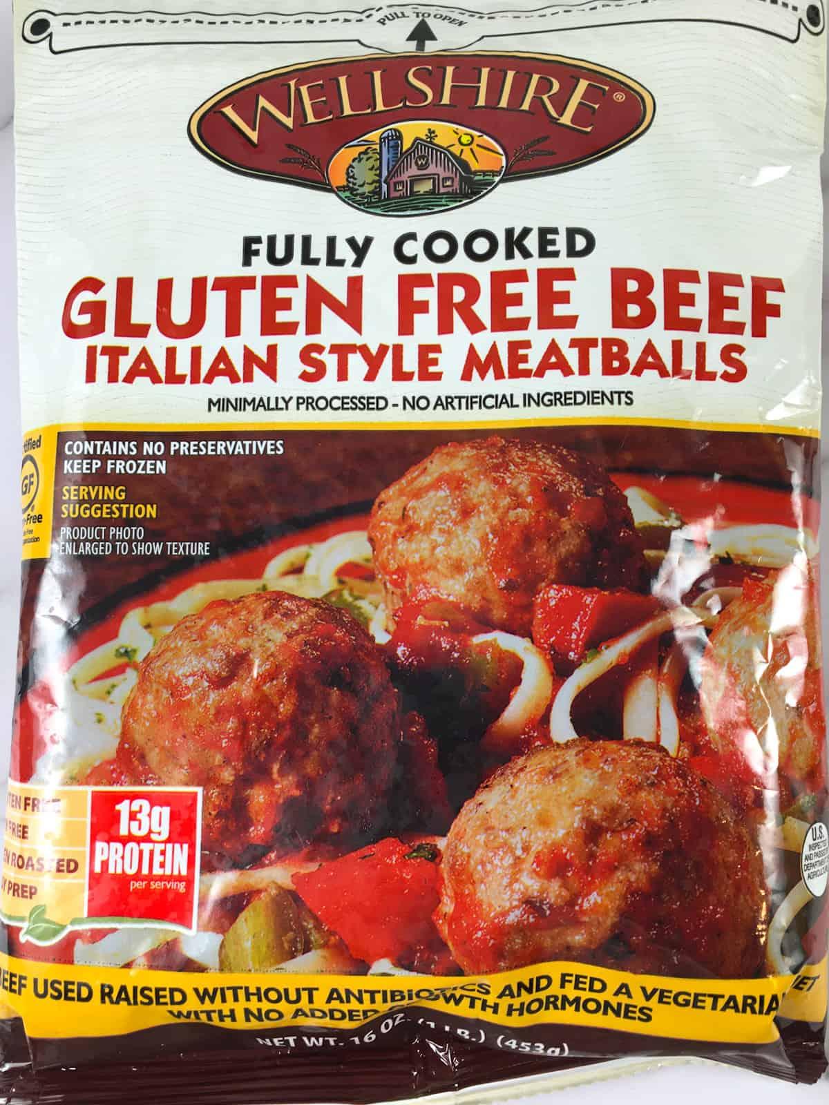 wellshire gluten free meatballs