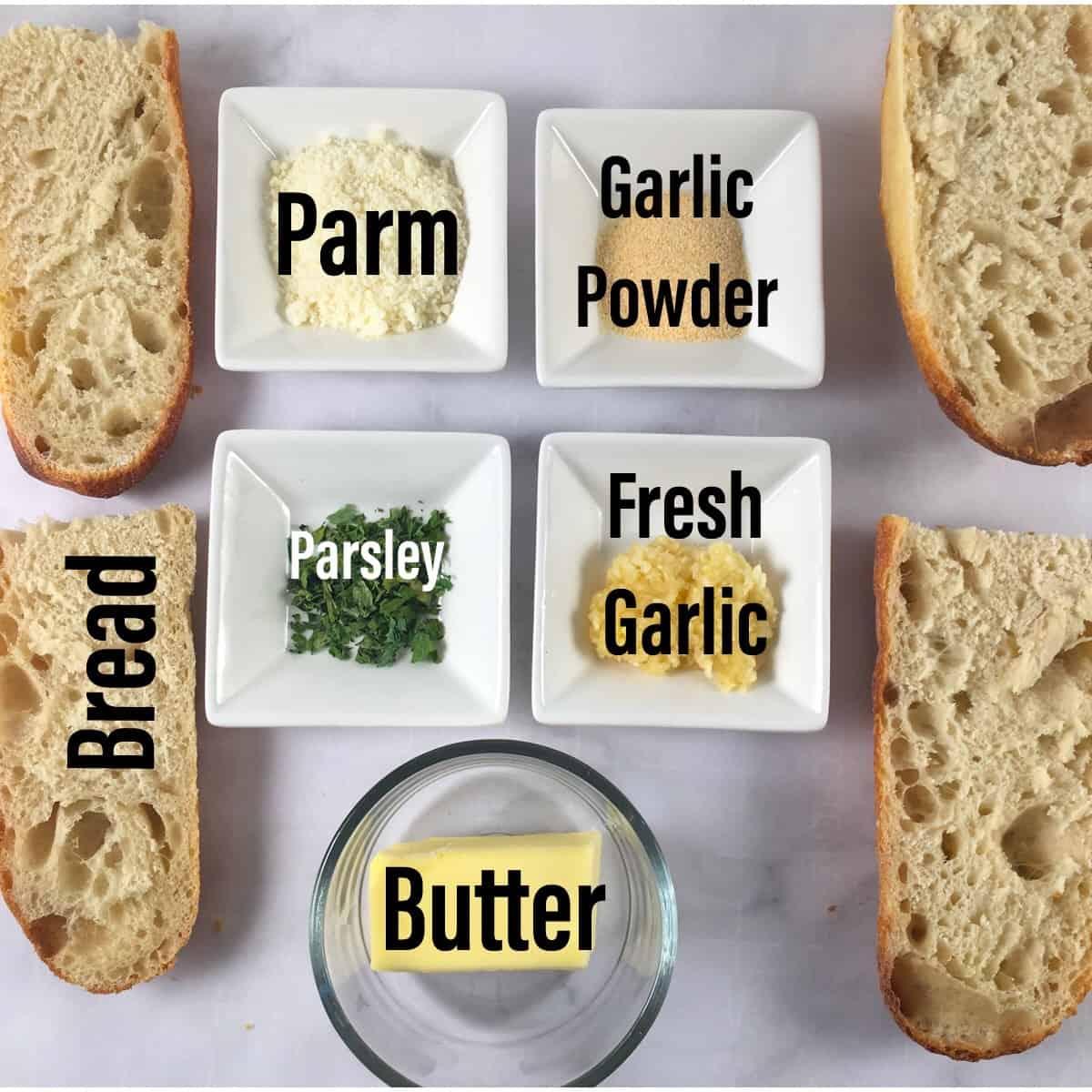 air fryer garlic bread ingredients