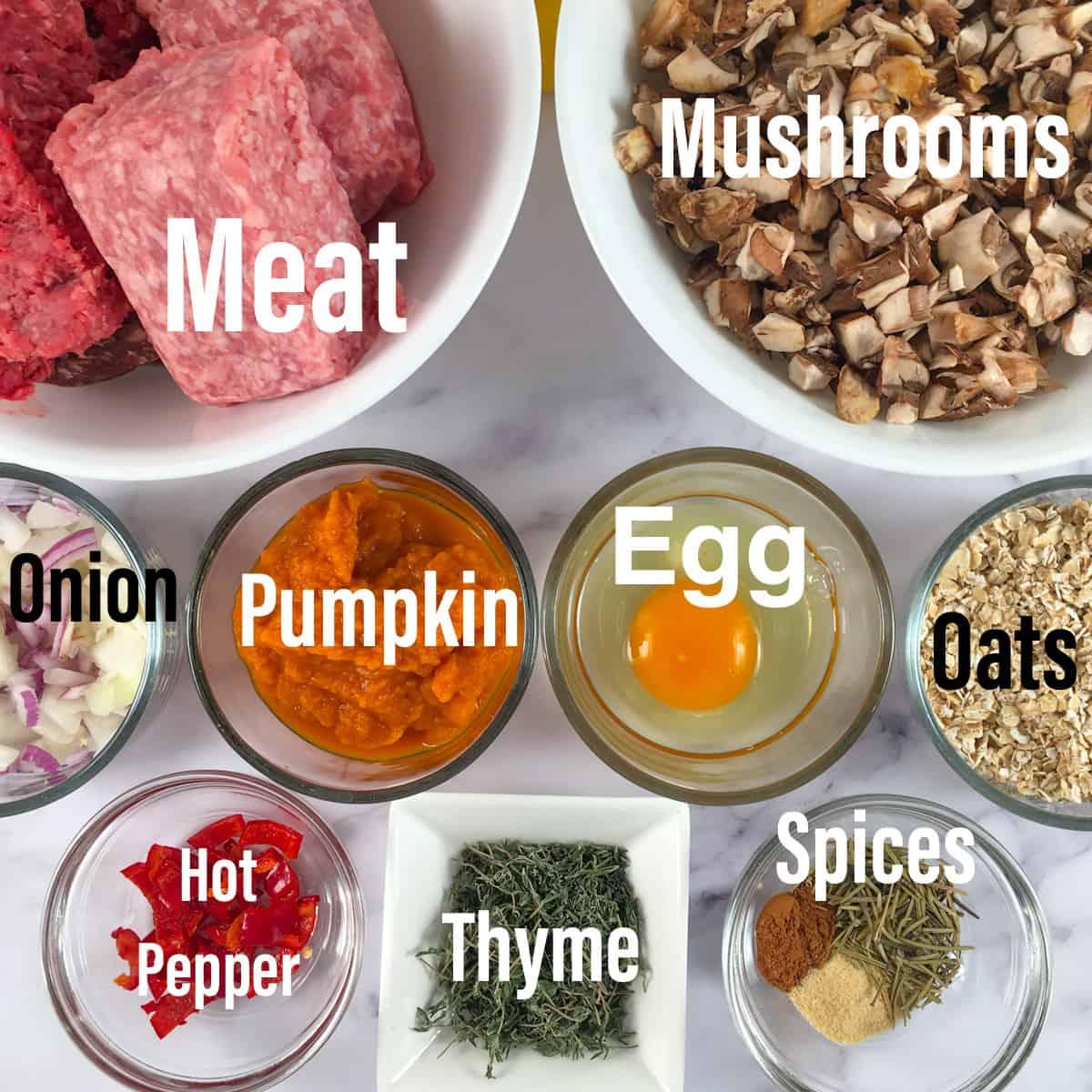air fryer meatloaf ingredients