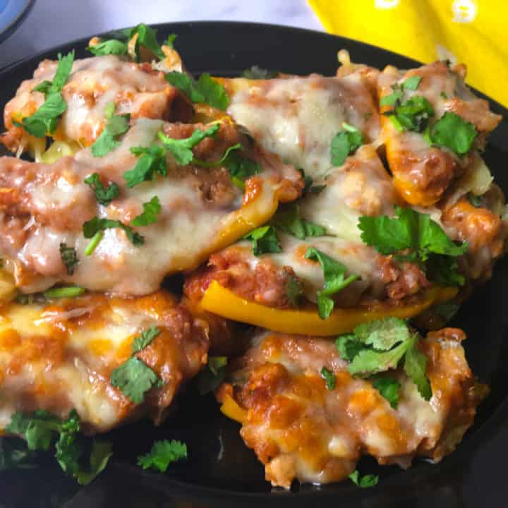 air fryer stuffed mini peppers